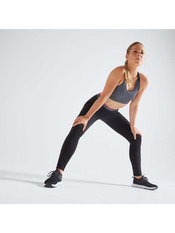 Domyos By Decathlon 100 Fitness / Kardiyo Antrenman Taytı - Kadın - Siyah