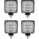 Forza Off Road Beyaz Işık Sis Farı Lambası 16 LED Kare 12-24 V 4 Adet