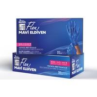 Reflex Glove Yeni Nesil Hibrit Teknoloji Polietilen Eldiven 100'lü Paket Mavi