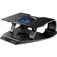 Promate Frostbase Laptop Soğutucu Altlık 17 inç Oyuncular İçin Çift USB Güçlü Sessiz Fan LED Işık