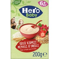 Hero Baby Sütlü Kırmızı Meyveli 8 Tahıllı