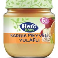 Hero Baby Karışık Meyveli Yulaflı Kavanoz Mama 125g