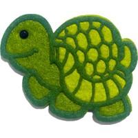 Toptan Keçe Keçe Yeşil Kaplumbağa Süsü 5 Adet Keçeden Kurbağa Figürü