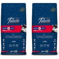 Felicia 2 Adet Orta Büyük Irk Yetişkin Az Tahıllı Kuzulu Pirinçli Köpek Maması 3 kg x 2 = 6 kg