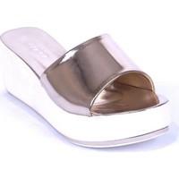 Ustalar Ayakkabı Gold Kadın Dolgu Topuklu Terlik 542.2023