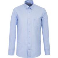 Kiğılı Uzun Kol Desenli Oxford Gömlek