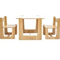 Minera 2-4 Yaş Turna Montessori Çocuk Oyun, Çalışma, Aktivite Masası ve Sandalyesi Seti
