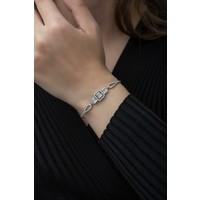 Nereze 925 Ayar Asansörlü Baget Taşlı Tektaş Kadın Gümüş Bileklik