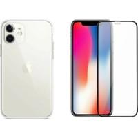 Nomino I Phone 11 Ekran Koruyucu 9h + Şeffaf Silikon Kılıf