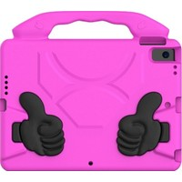 Fujimax Apple iPad 8. Nesil 10.2 2020 A2428/29/30 A2270 Seri Standlı Eva Kids Silikon Tablet Kılıf Pembe