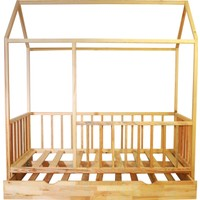 Ürün Şehri Montessori Yatak Yavrulu Doğal Ahşap Çocuk YATAK-CMY012