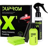 Duprom X1 Nano Araç Seramik Kaplama - Oto Boya Koruma- Evrensel Temizleyici ile Birlikte- 9H Seramik Kaplama - 3 Yıl Koruma - Ultra Parlaklık