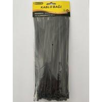 Big Master Kablo Bağı Plastik Cırt Kelepçe 3.6 X 200 mm 100 Adet Siyah
