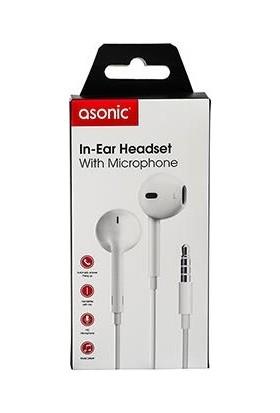 Asonic AS-XK85 Mobil Telefon Uyumlu Kulak Içi Siyah Mikrofonlu Kulaklık