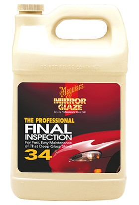 M34 Mirror Glaze® Fınal Inspectıon Yüzey Temizleme Sıvısı 3,79 Lt.