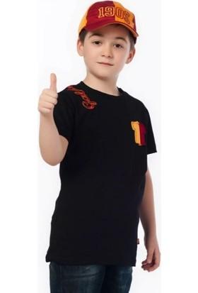 Gs Store Galatasaray Nakışlı Çocuk Tişört Siyah