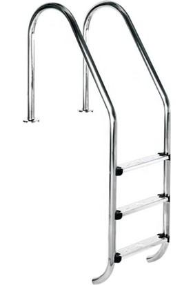 Standart Tip 3 Basamaklı Aısı 304 Paslanmaz Çelik Havuz Merdiveni