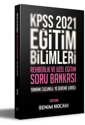 Benim Hocam Yayınları 2021 Kpss Eğitim Bilimleri Rehberlik Ve Özel Eğitim Soru Bankası - Can Köni
