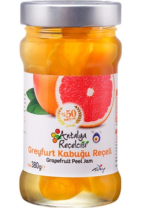 Antalya Reçelcisi Greyfurt Kabuğu Reçeli %50 Meyve Klasik Seri 380 Gr