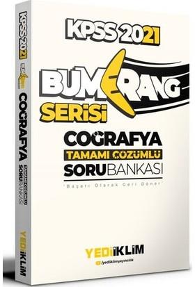 Yediiklim Yayınları 2021 Kpss Genel Kültür Bumerang Coğrafya Tamamı Çözümlü Soru Bankası