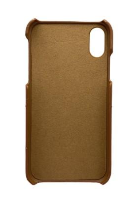 Addison Smart Mobile Phone Deri Kılıf Kahverengi iPhone Xr