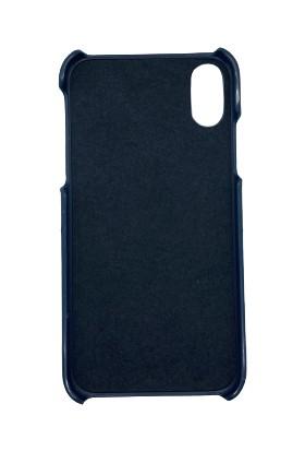 Addison Smart Mobile Phone Deri Kılıf Lacivert iPhone Xr