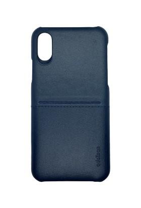 Addison Smart Mobile Phone Deri Kılıf Lacivert iPhone X/xs