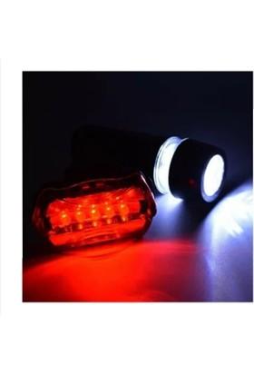 Power Beam LED Bisiklet Lambası Feneri Ön Far Arka Stop Işık Aydınlatma Seti