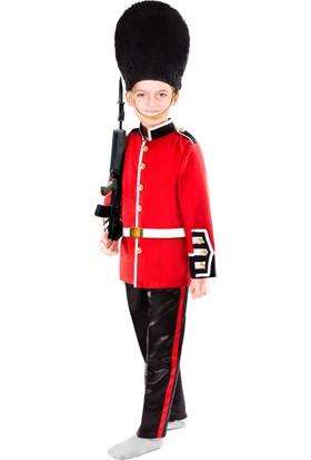 Oulabimir İngiliz Muhafız Asker Kostümü Çocuk Kıyafeti