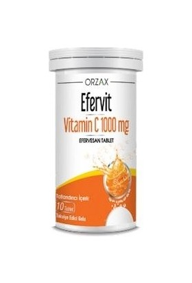 Orzax Efervit Vitamin C 10 Efervesan Tablet 1000 mg