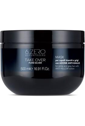 6.zero Take Over Pure Silver Mask - Beyaz ve Gri Saçlar Için Maske 500 ml