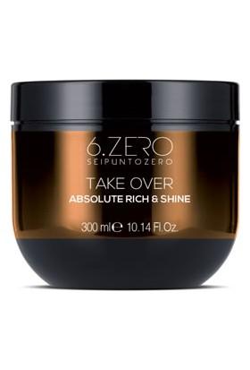 6.zero Take Over Absolute Rich & Shine Mask - Kuru ve Mat Saçlar Için Maske 300 ml