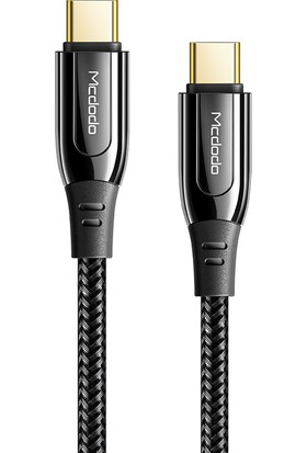 Mcdodo 100W 5A Type C To Type C Pd Hızlı Şarj Kablosu Siyah 1.2metre CA-8120