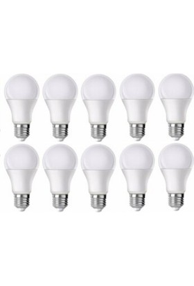 LED Ampul 10 Watt Tasarruflu Beyaz Işık 10 Lu Paket
