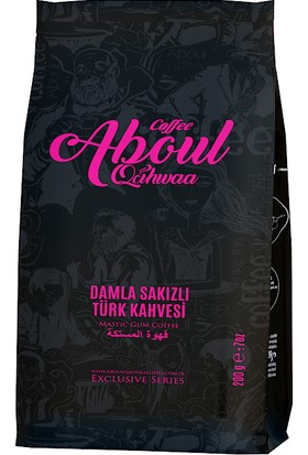 Aboul Qahwaa Blok Bottum 2 Paket Damla Sakızlı Türk Kahvesi 400 gr