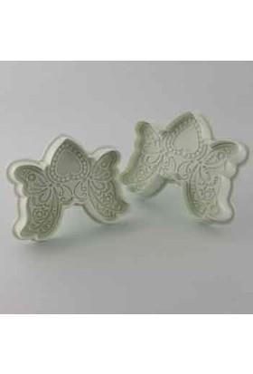Hershey 2li Kelebek ve Kalp Desenli Basmalı Kopat