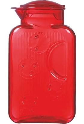 Herevin Plastik Kulpsuz Kırmızı Sürahi