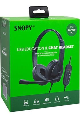 Snopy SN-CS30 Siyah Çağrı Merkezi Mikrofonlu Kulaklık