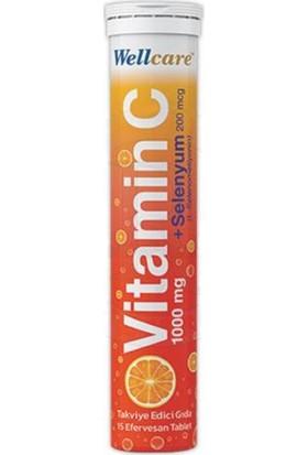 Wellcare Vitamin C + SELENYUM15 Efervesan Tablet
