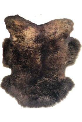 Bienna Fur El Dokuması Kahverengi Post Halı