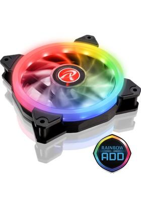 Raijintek IRIS 14 RBW ADD-2 2 Adet Adreslenebilir ARGB LED Fan + 8 Port Fan Çoklayıcı + Uzaktan Kumandalı Kasa Fanı Seti (RJ 0R40B00114)