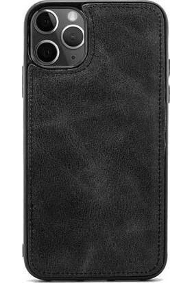 Teleplus iPhone 12 Mini Kılıf Mıknatıslı Deri Silikon Siyah