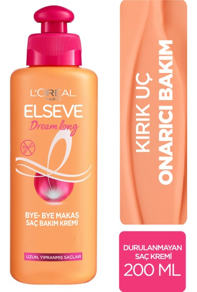 L'Oréal Paris Elseve Dream Long Bye-Bye Makas Saç Bakım Kremi 200 ml