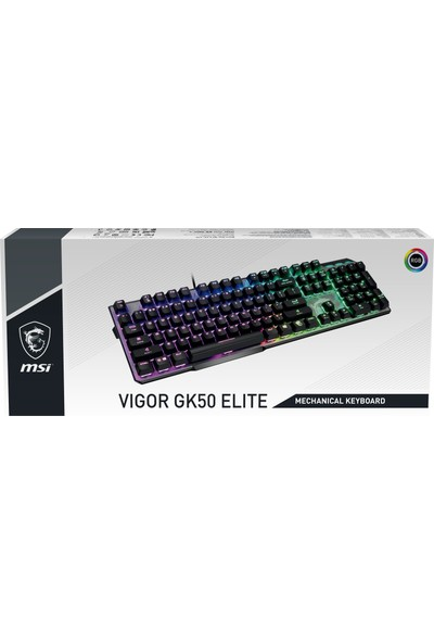 MSI Vigor GK50 Elite White Switch Kablolu Oyuncu Mekanik Klavye
