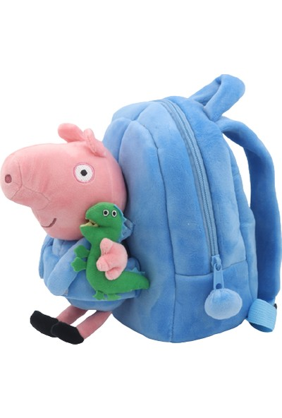 Schulzz Peppa Pig Peluş Karakter Çocuk Sırt Çantası
