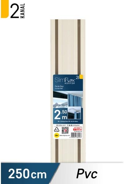 Slımflex Konfor Korniş Pvc 2'li Ray Beyaz 250cm