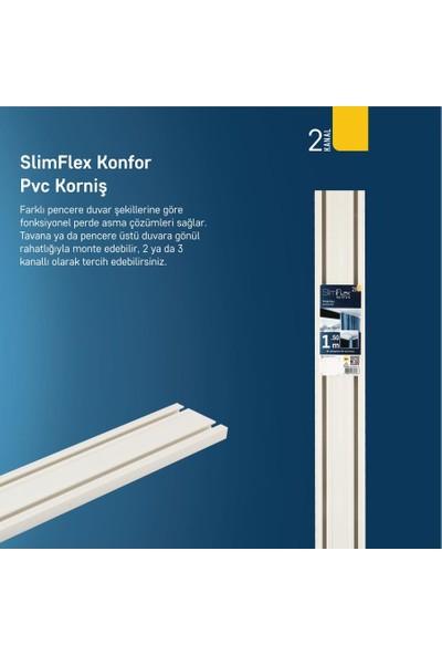 Slımflex Konfor Korniş Pvc 2'li Ray Beyaz 300cm