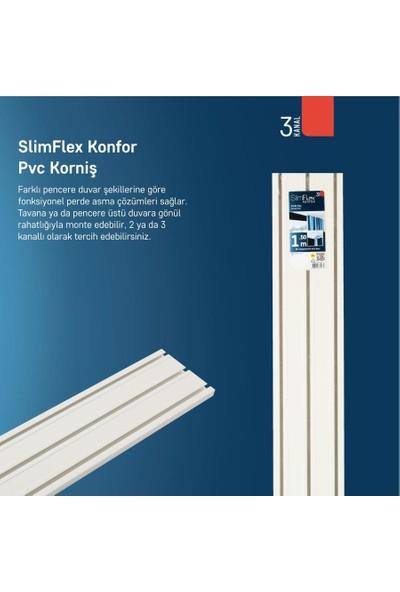 Slimflex Konfor 3 Kanallı Korniş 2.5m