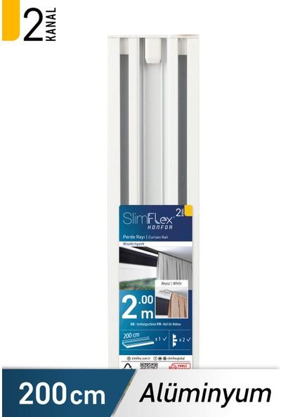 Slimflex Alüminyum 2 Kanallı Korniş 2m