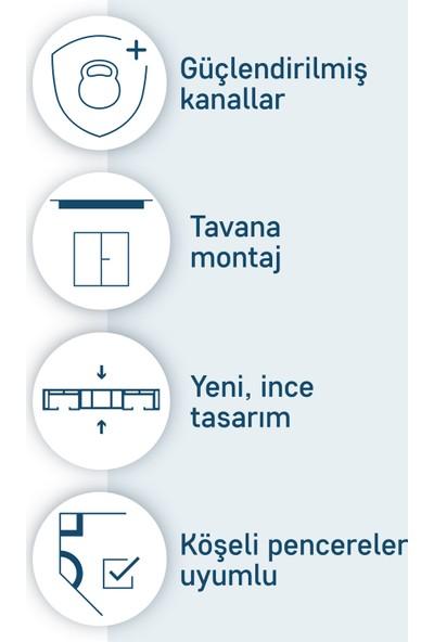 Slimflex Konfor Korniş Kolay Perde Asma Seti 3'lü 2m